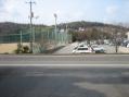 事務所前の景色:シャープ第3工場駐車場